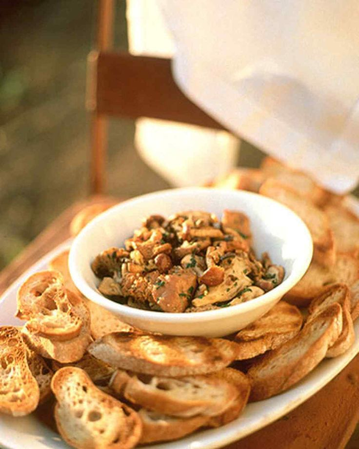 Sauteed wild mushrooms are delicious served with grilled bread brushed with olive oil. White button mushrooms can be substituted for the wild mushrooms.