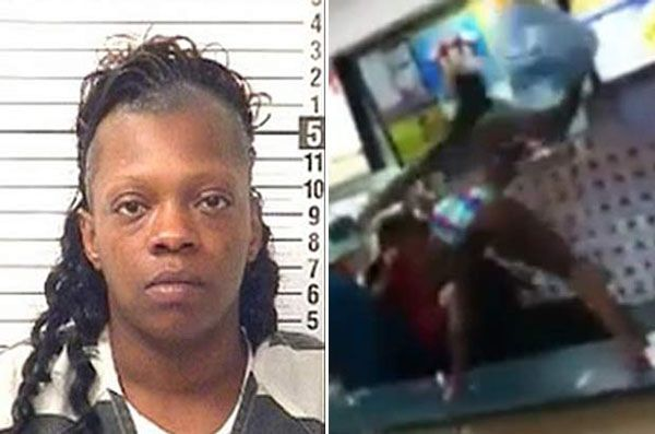 The bikini-brawler who had a meltdown and destroyed a restaurant and a donation jar