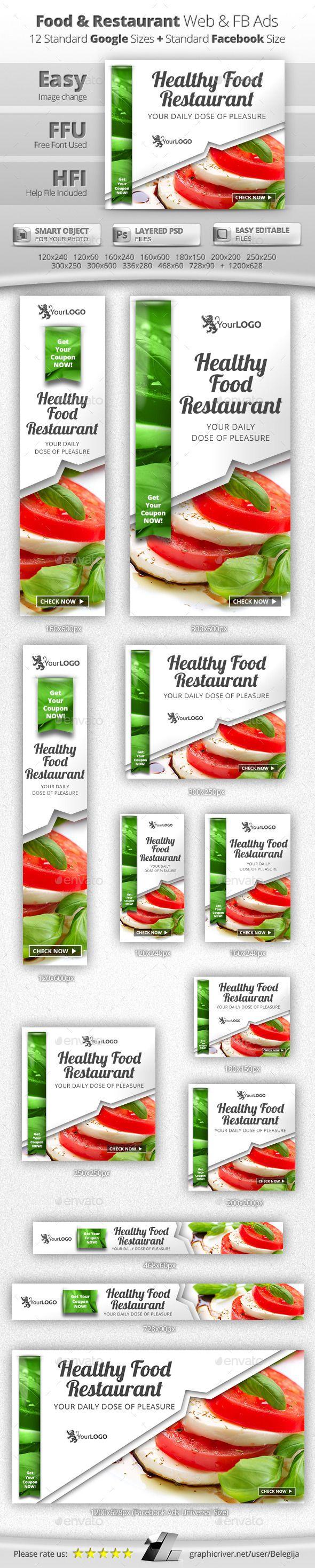 Food & Restaurant Web & Facebook Banners