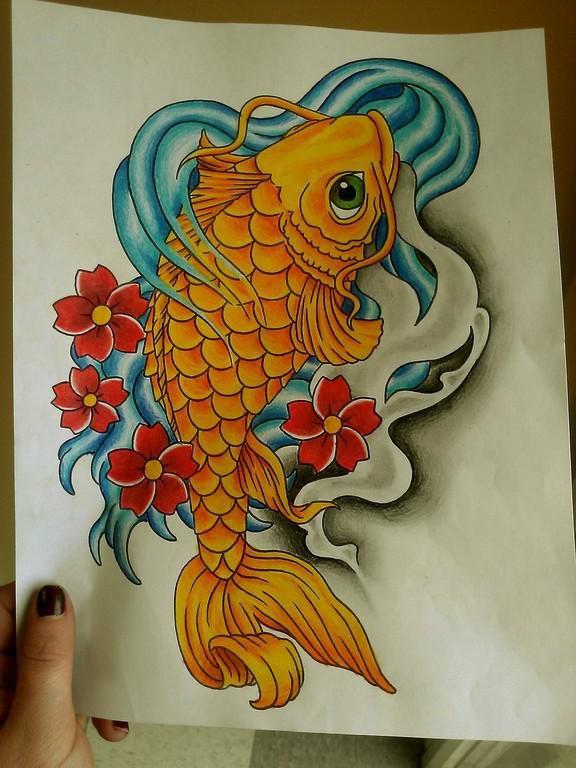 Plantillas para tatuajes del pez koi pez koi koi y el pez for Pez koi pequeno