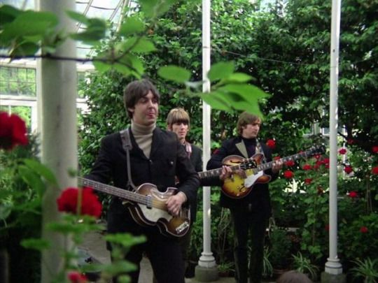 Paul, George and John in Paperback Writer promo video