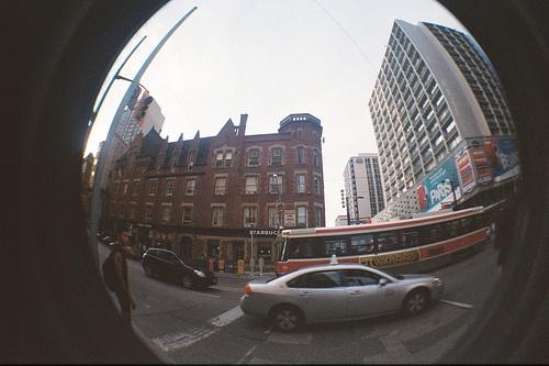 Taken with a Lomo Fisheye on Queen Street West Toronto