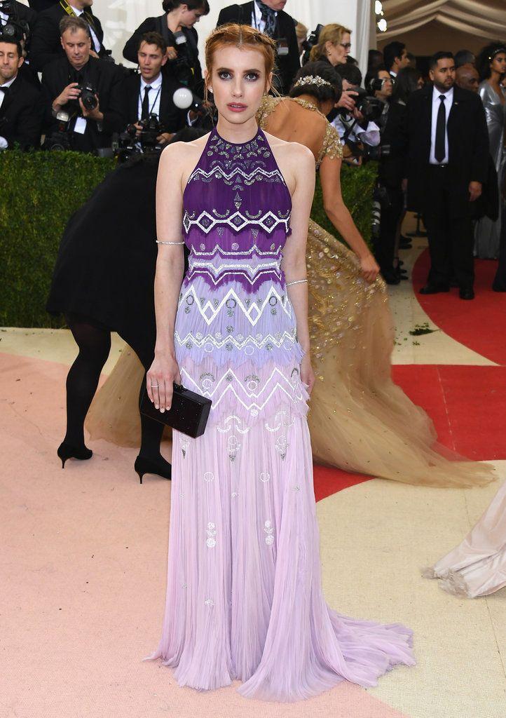 Emma Roberts in Tory Burch at Met Gala Red Carpet Dresses 2016 | POPSUGAR Fashion