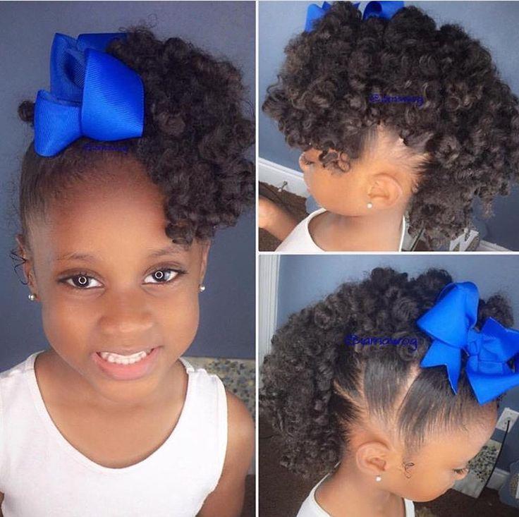 Astonishing 1000 Images About Little Black Girls Hair On Pinterest Kids Hairstyles For Women Draintrainus