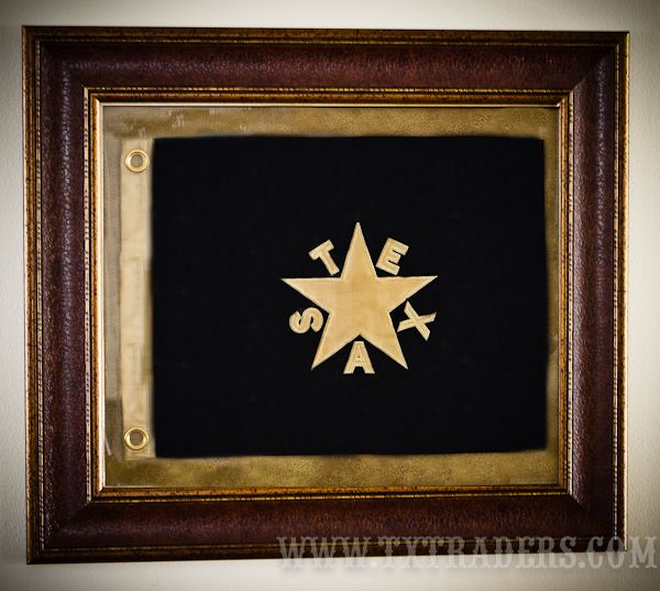 Framed First Republic Texas  Battle Flag