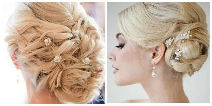 Idée coiffure  Chignon pour mariage, soirée ou cérémonie sur cheveux longs. Hairstyle idea Chignon for wedding, party or event on long hair. Brid\u2026