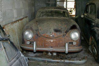 Porsche 356 barn find #porsche