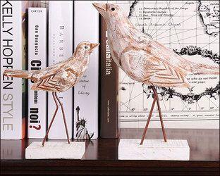 インテリア雑貨輸入雑貨北欧木雑貨鳥彫刻オブジェ置物動物雑貨玄関や棚の上などに置いてインテリアとしてもかわいい置物アイアン