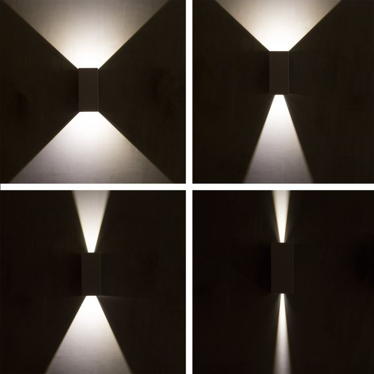 vierkante wandspot Channel LED - Up-Down LED