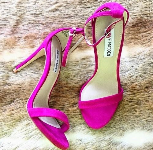 Steve Maden Poppin' Pink Wedding Shoes