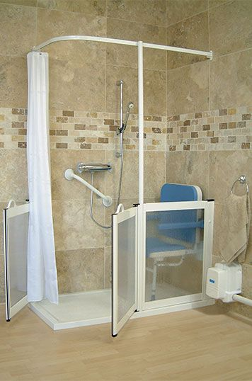 Bathroom Showers | Disabled Bathroom, Disabled Bathroom Design, Wheelchair  Accessible .