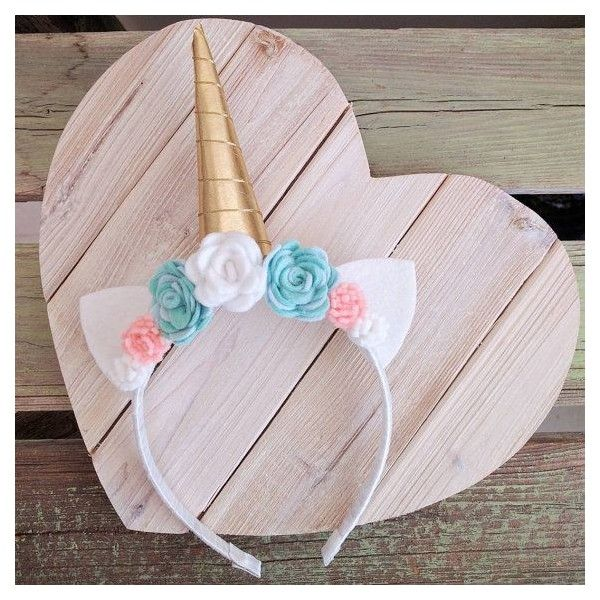 Unicorn horn headband found on Polyvore featuring polyvore, women's fashion, accessories, hair accessories, head wrap headbands, unicorn headband, head wrap hair accessories, hair band accessories and headband hair accessories