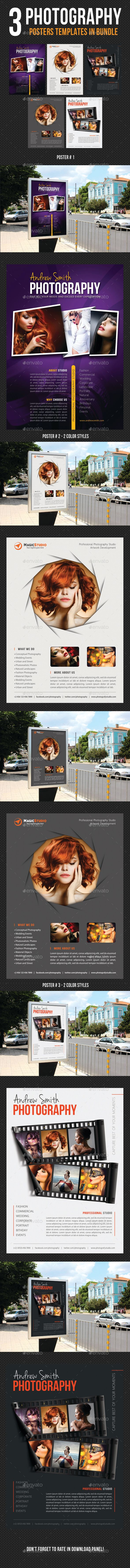 3 High impact Poster Template Layouts, perfect for business advertisement or product promotion! Pack included:    3 Poster Templat