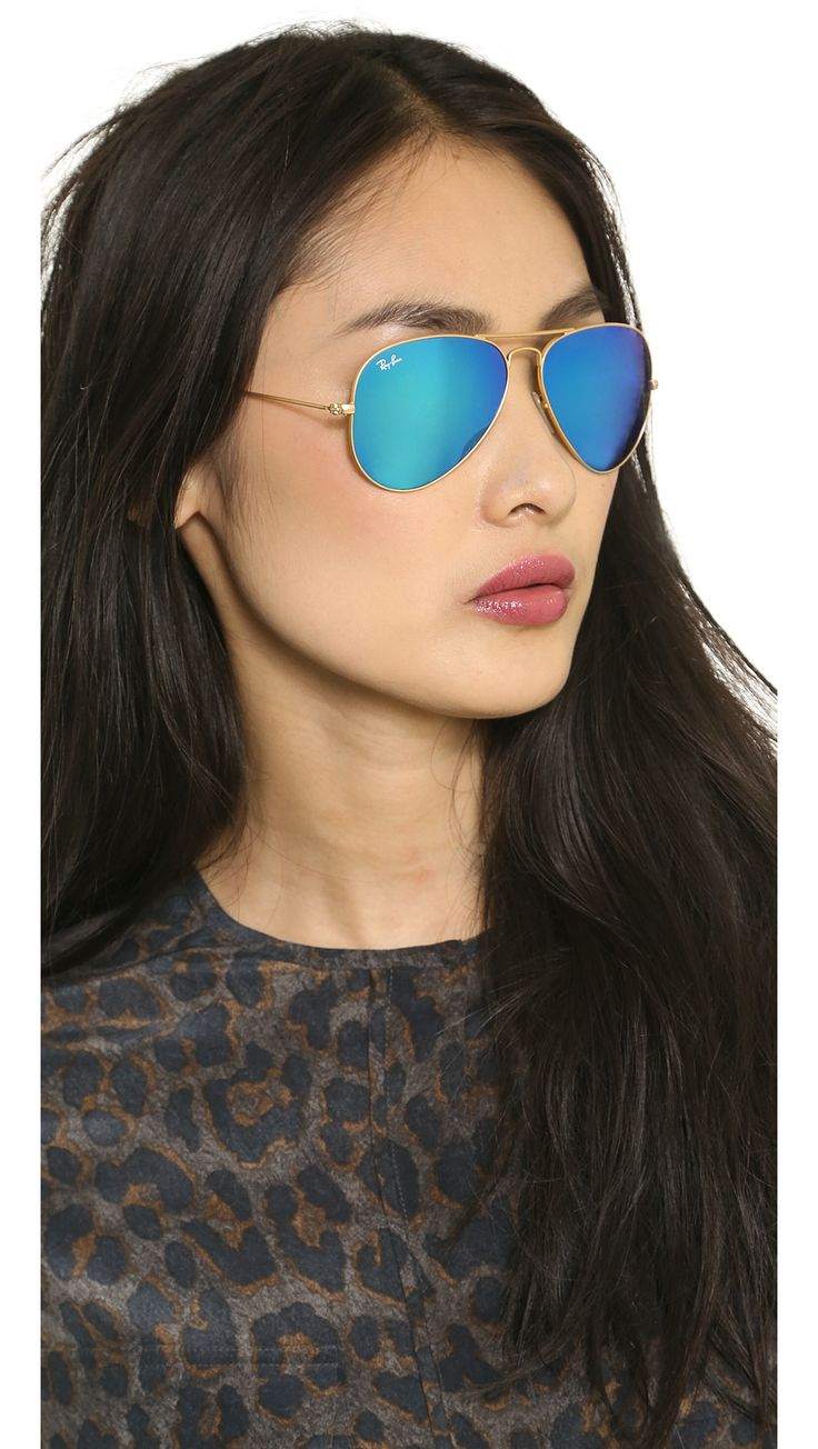 Ray-Ban Mirrored Matte Classic Aviator Sunglasses |SHOPBOP | Use Code: to Save Up to