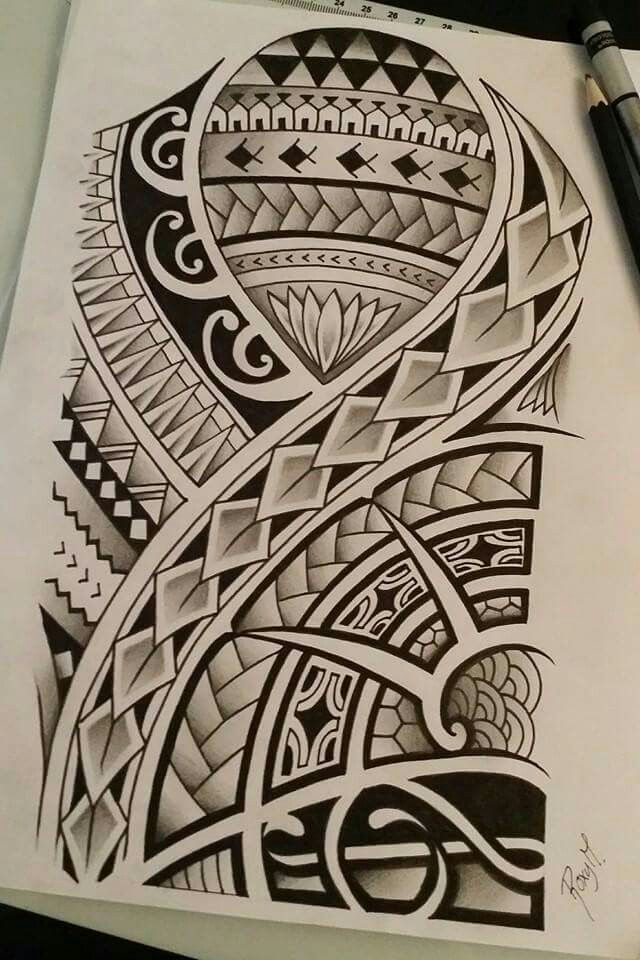 Polynesian drawing i made for a contest