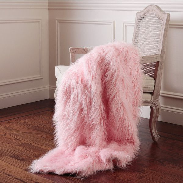 "Greta Mongolian Lamb Faux Fur Throw Blanket Color: Pink, Size: 58"" W x... (260 AUD) ❤ liked on Polyvore featuring home, bed & bath, bedding, blankets, outdoor throw blanket, outdoor throw, thermal blanket, pink blanket and outdoor blanket"