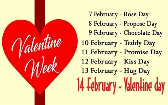 Valentine Week 2018 When Is Rose Day Kiss Day Hug Day