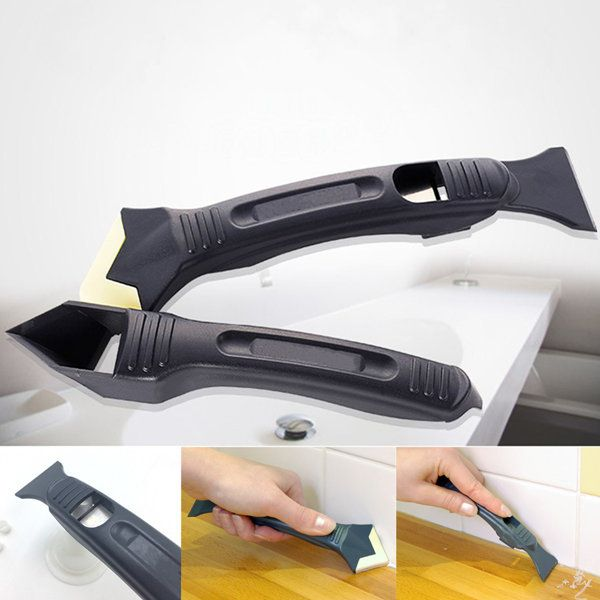 2pcs Silicone Sealant Remover Smoother Finisher Scraper Cleaner Tool Kit