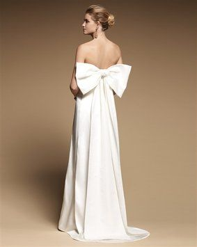 Ivory Satin Alexandria Formal Wedding Dress