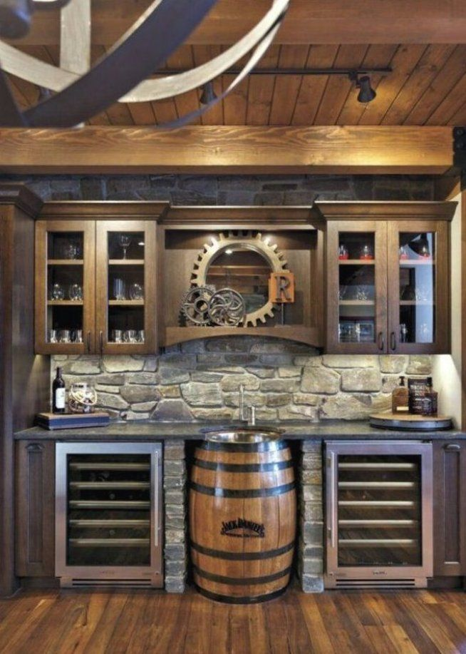 Drink Station Man Cave Ideas Bobberbrothers Man Cave Custom Interior Designs Custom Diy Furniture I Rustic Basement Basement Bar Design Basement Design