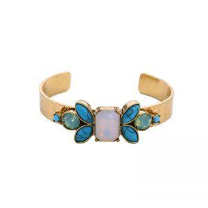 Bracelet jonc pierre or
