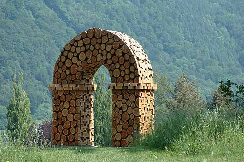 """firewood art.....decisions, decisions. Art, gardening, home, trees or """"good stuff?"""" I opted for ART."""