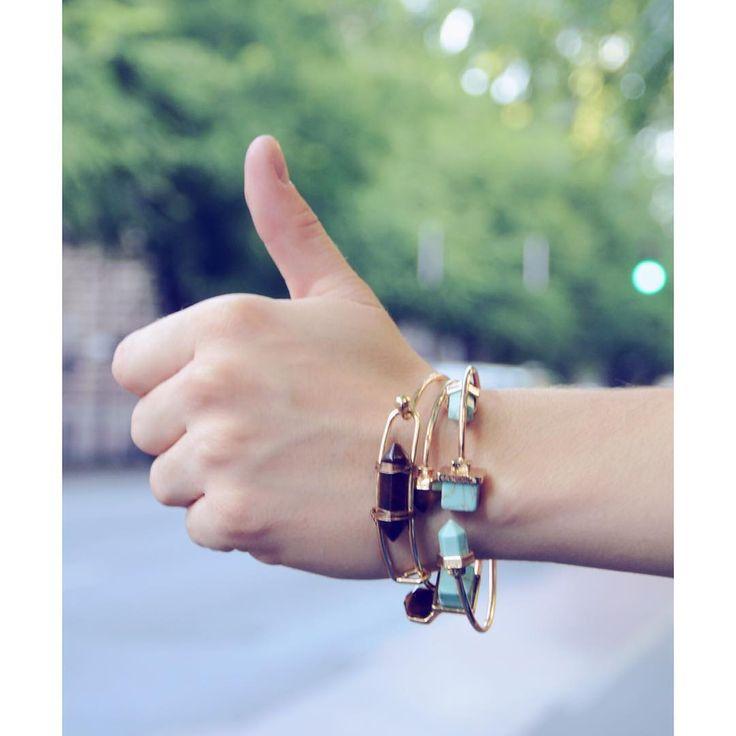 Take me to the party!  Nice boho bangles in stores. Turquoise gem bracelets   #szputnyikshop #szputnyik #budapest #urbanjungle #cute #stop #hitchhiking