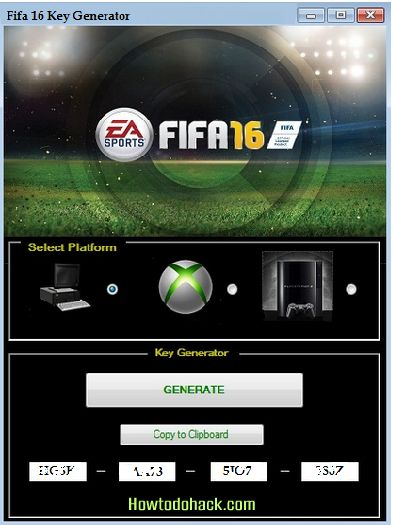 FIFA 16 Serial Key Generator 2016 Updated No Survey Free Download http://www.howtodohack.com/fifa-16-serial-key-generator-2016-updated/