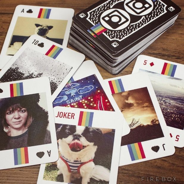 Turn your favorite Instagram snaps into a deck of cards. Selfies, food porn, sunsets and pet photos… your deck of card will be personalized however you like it, which means you'll get to choose which photos go on which card. Your biggest decision here is: who's going to be queen, king, joker and ace? If playing cards are not your thing, you can also turn your Instagrams into coasters, cushions or even lenticular photos!