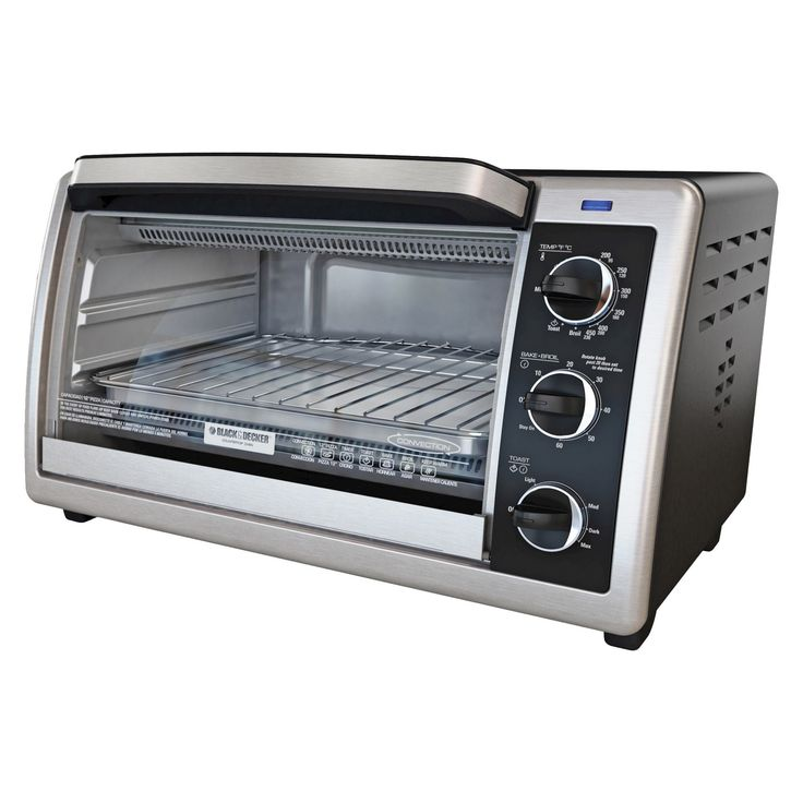 Black+decker 6-Slice Convection Toaster Oven, Black