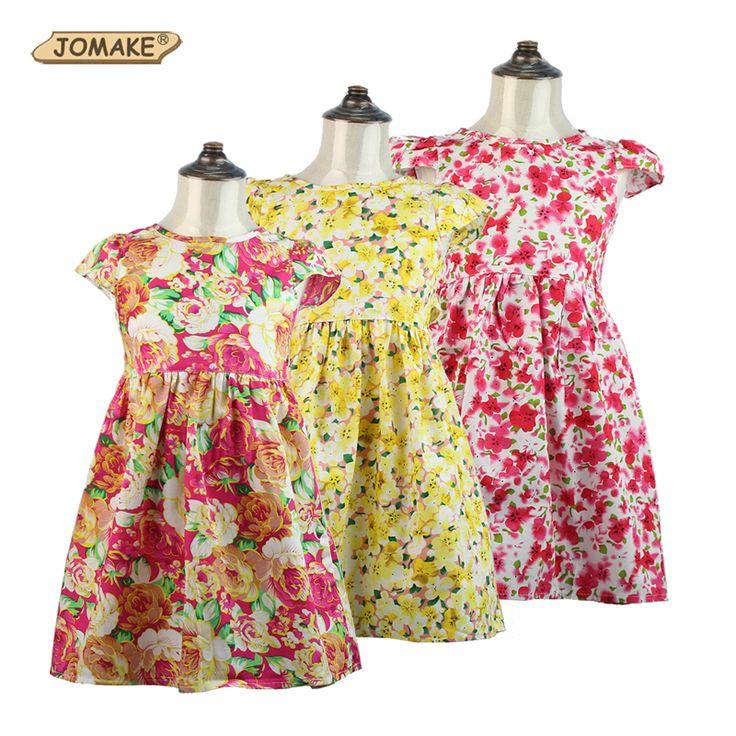 Купить Платье девушки следующим летом стиль цветочные рукавов пляж сарафан малыша девушки платье принцессы детская одежда детская одеждаи другие товары категории Платьяв магазине JOMAKE Kids Clothes StoreнаAliExpress. платья аксессуары и одежда блузки