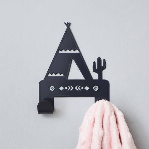 teepee children's coat rack teepee decor nursery wall