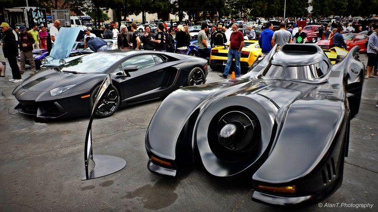 Original Batmobile vs Lamborghini Aventador! Jeff Dunham's Batmobile Batman Returns Detail Tour
