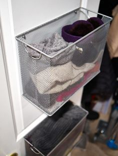 Great idea for slippers or flip flops. Don't waste storage space.