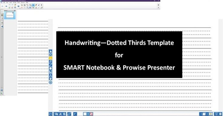 Handwriting Dotted Thirds Download for SMART Notebook and Prowise Presenter