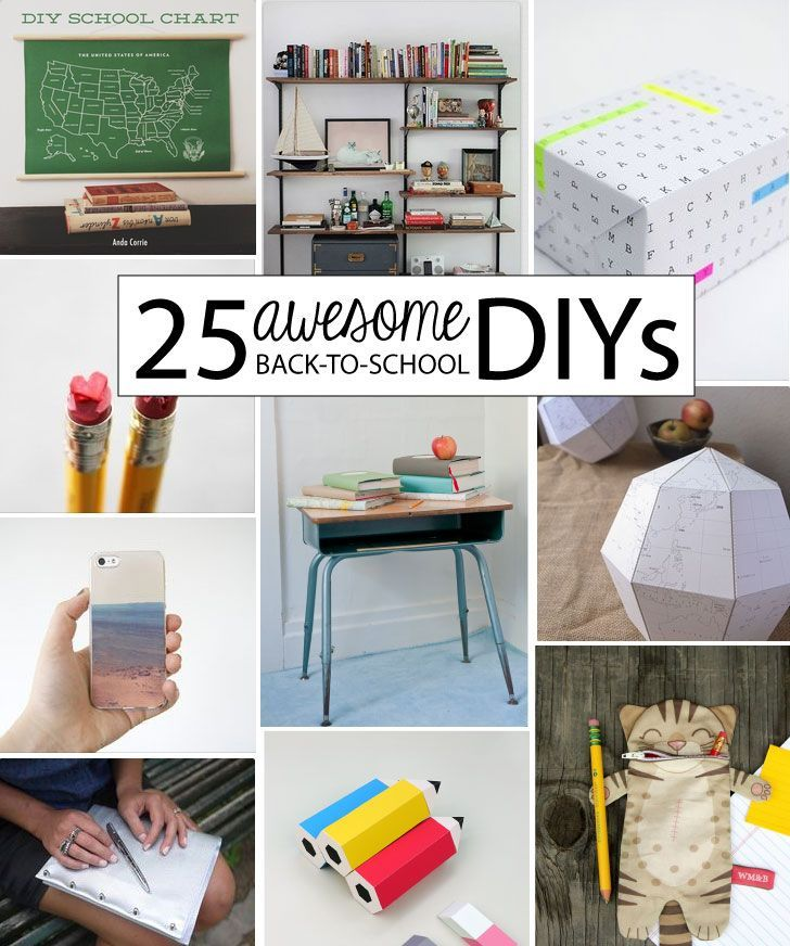 DIY - 25 Awesome Back to School DIYs - (high quality projects with a back to school theme)!