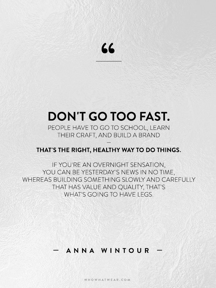 A Complete Roundup of Anna Wintour's Best Career Advice Ever via @WhoWhatWearUK