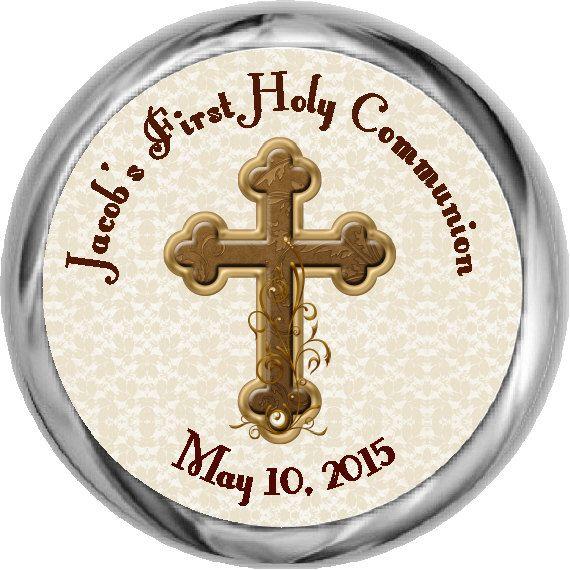 Boy Communion Sticker  Custom First Communion by FabPartyPrints