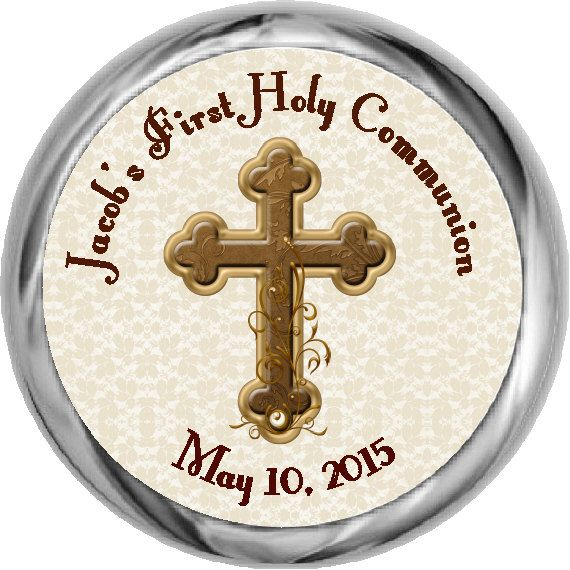 Boy Communion Sticker  Custom First Communion by FabPartyPrints