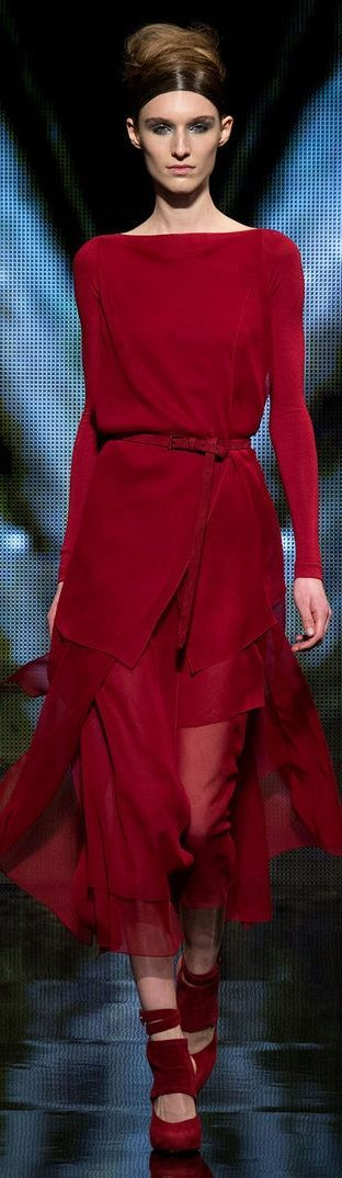 Donna Karan Fall 2014 ~ Fabulous for the Mother of the Bride, it's a gorgeous color and shape, think outside the box!