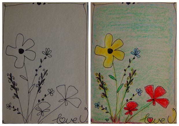 Eenvoudige bloemen tekenen