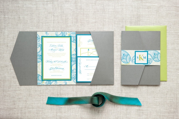 Sara & Michael - Paper & Poste Custom Invitation