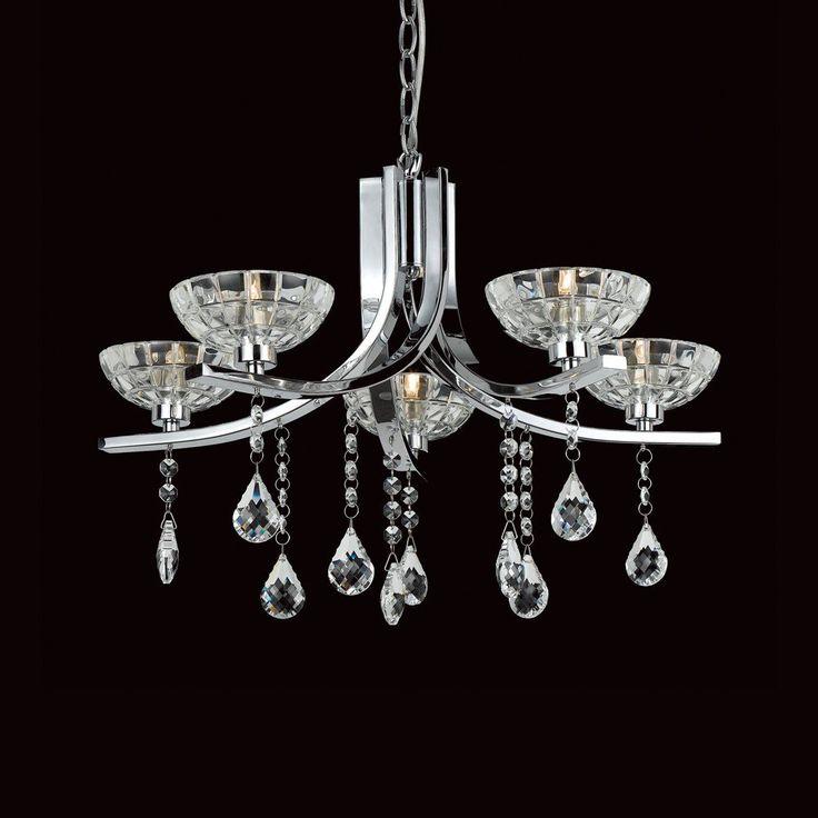 29 best crystal chandeliers images on pinterest crystal impex windsor 5 light chandelier cfh20118205ch wtghting aloadofball Gallery