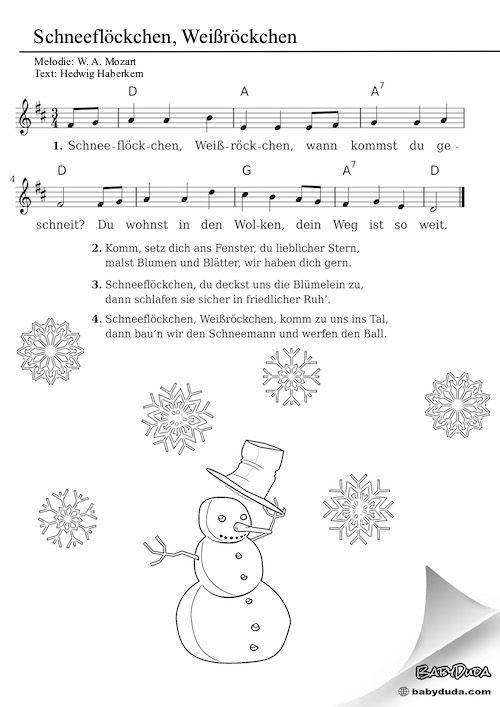 Songtext Schneeflöckchen