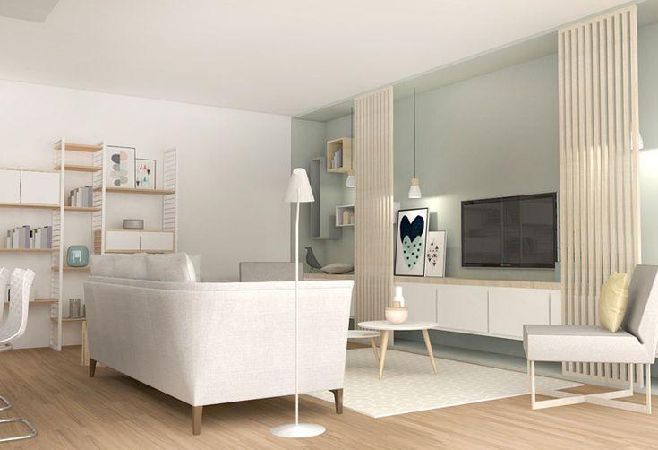 ambiance scandinave, aménagement, lyon, décoration, meuble sur mesure, rénovation, appartement, agence, LANOË Marion, architecture d'intérieur, travaux