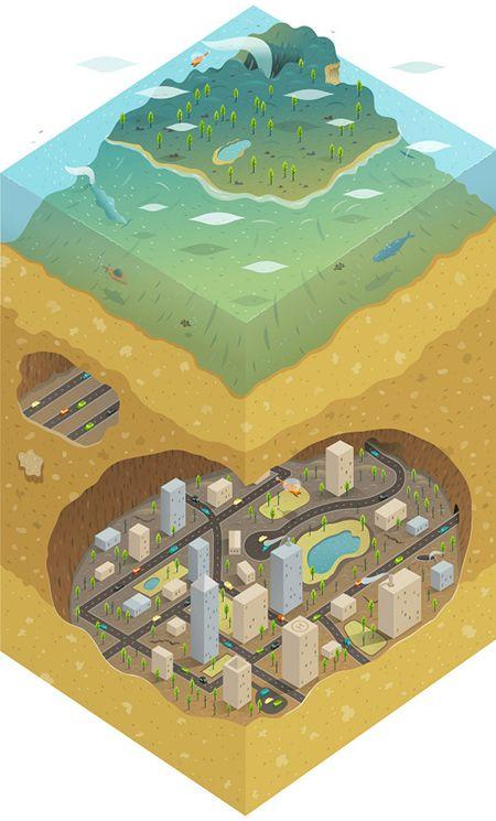Área Visual: Las ilustraciones vectoriales de Alex Mathers                                                                                                                                                                                 Más