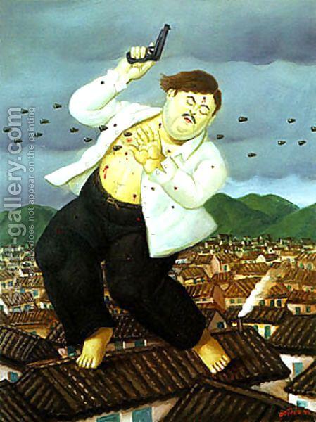 Death of Pablo Escobar by Fernando Botero