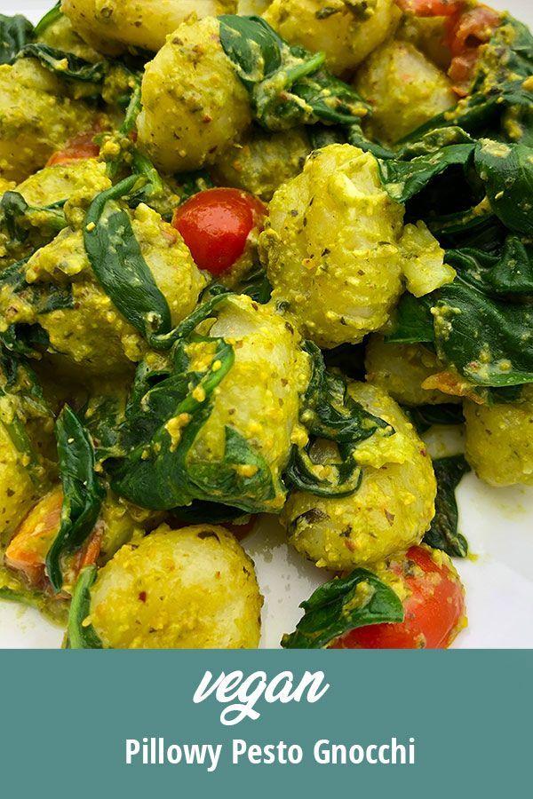 Vegan Pillowy Pesto Gnocchi