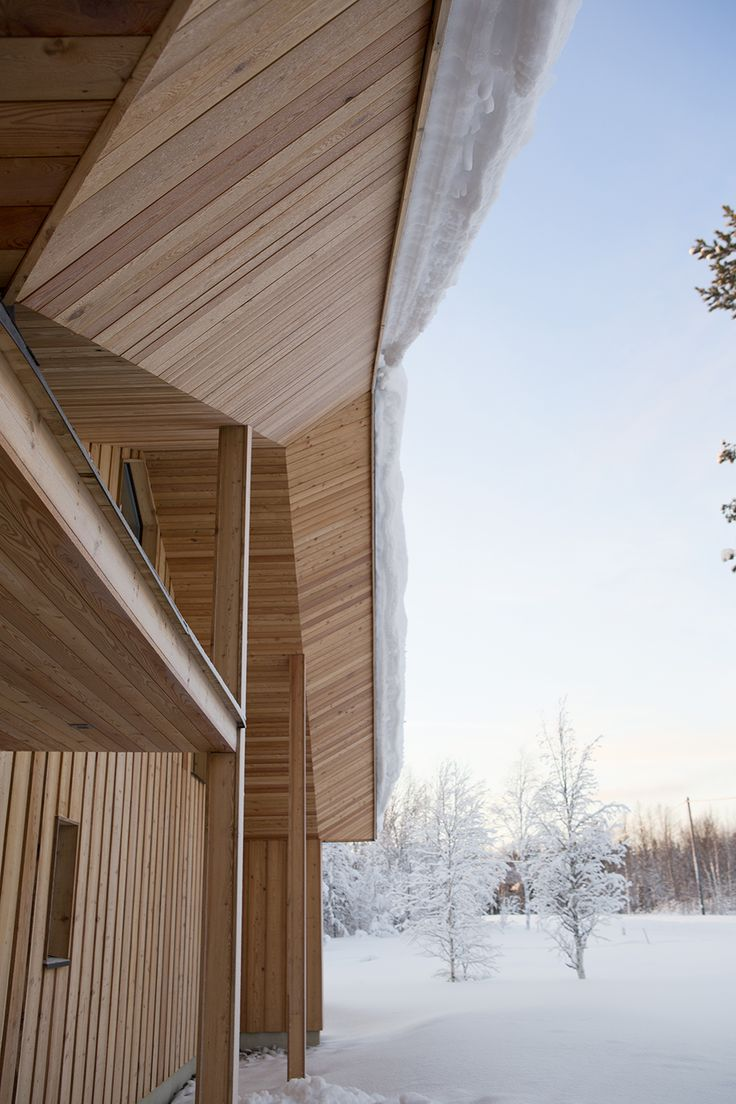 JOARC I ARCHITECTS • Holiday Villas • Chalet in Lapland, mökki, timber cladding, Finnish architecture