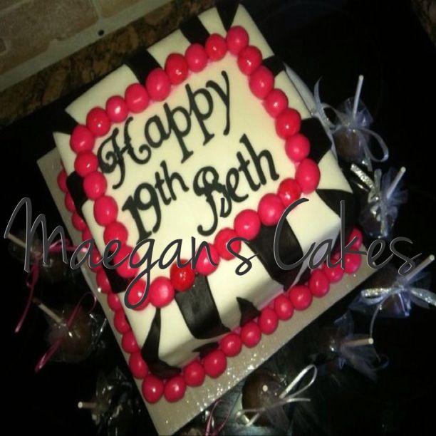 Pink And Zebra Birthday Cake